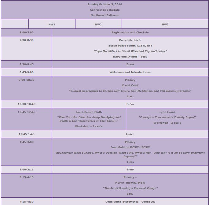 sunday new conference schedule